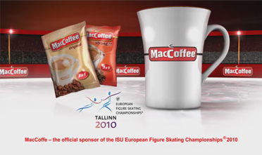 MacCoffee® is the official sponsor of the European Skating Championships 2010