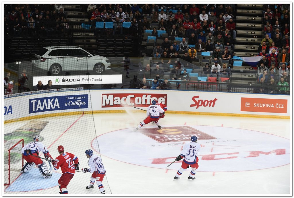 MacCoffee Provides Hot Support for Russian Team on Euro Hockey Tour
