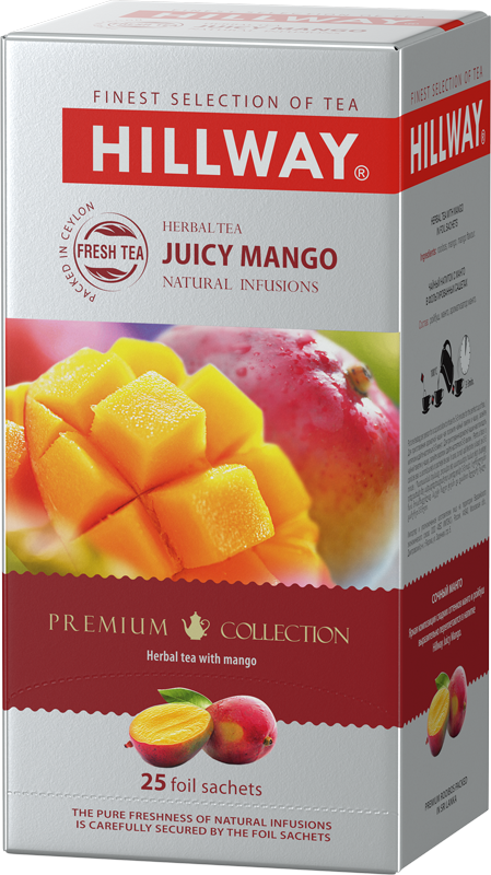 Juicy Mango — herbal tea with mango flavor