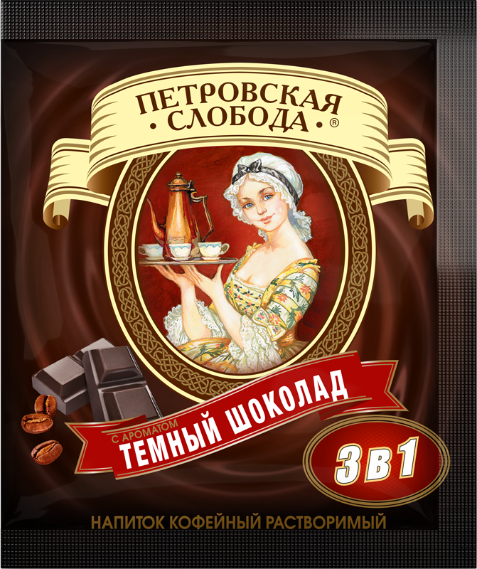 """Petrovskaya Sloboda"" 3 in 1 Dark chocolate"