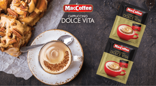 MacCoffee Сappuccino Dolce Vita – new coffee drink with cocoa topping