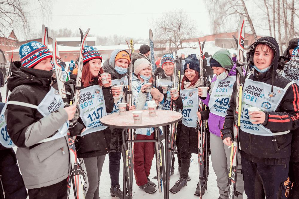 «Лыжня России» в Новосибирске вместе с MacCoffee