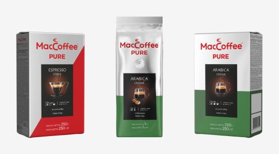 MacCoffee PURE – натуральный кофе из Италии от любимого